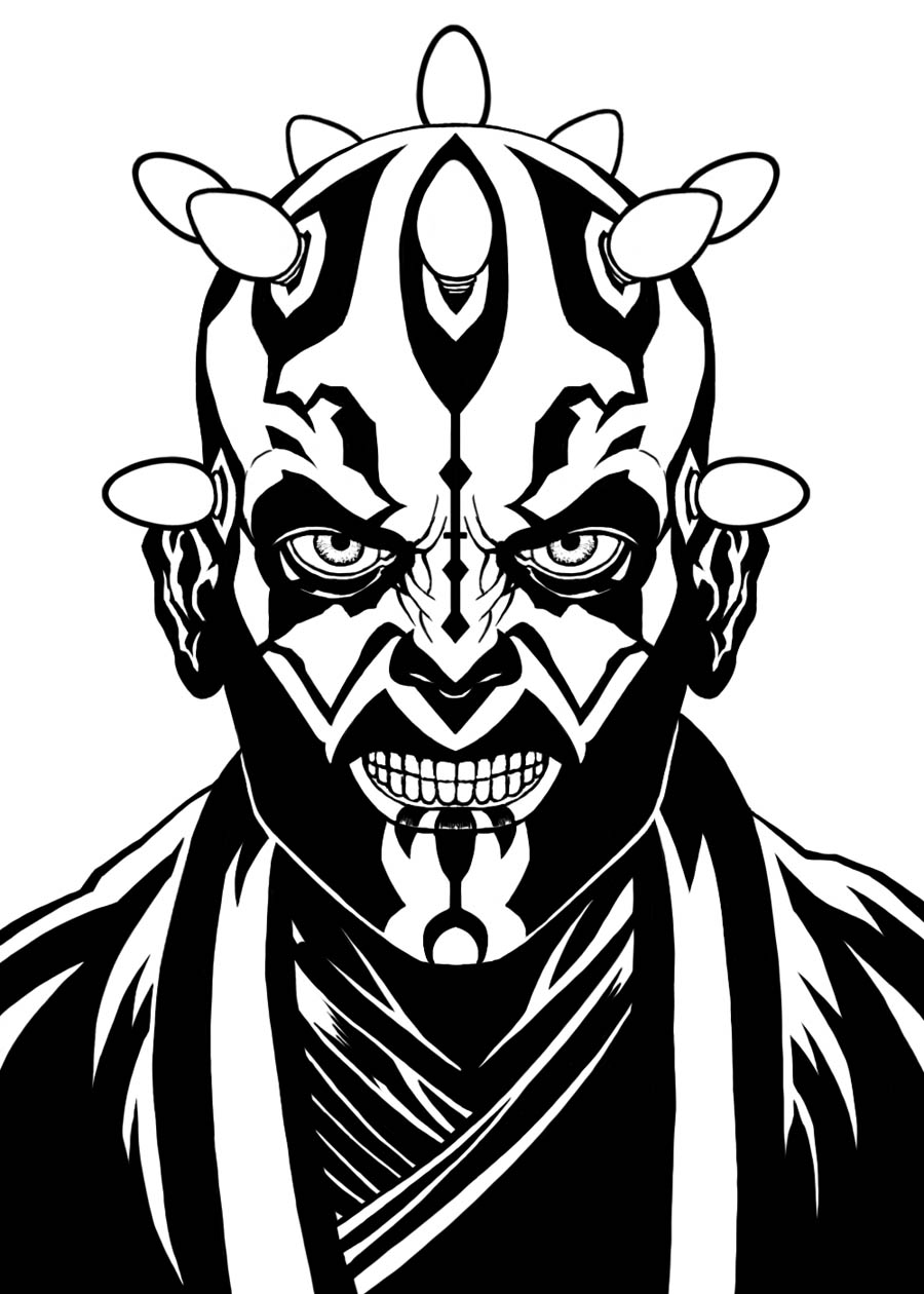 darth maul coloring pages - HD900×1260
