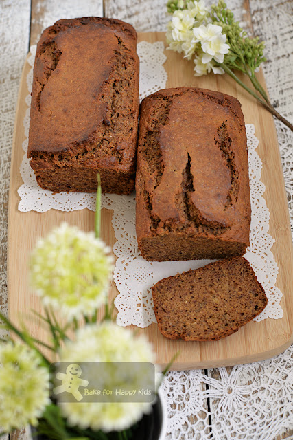 moist wholemeal buckwheat banana bread