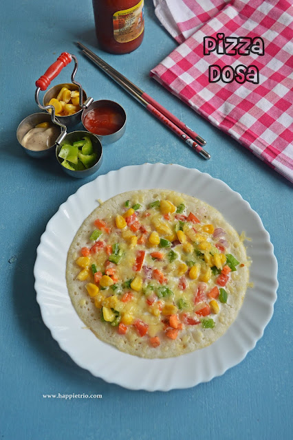 Vegetable  Pizza dosa Recipe | Pizza Dosa