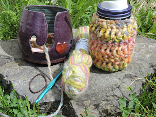 Crochet jar cozy- supplies and pattern