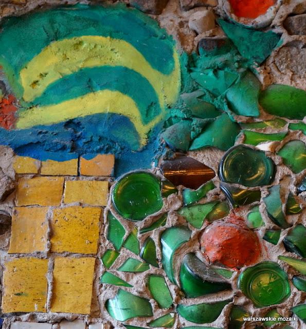 Warszawa Warsaw warszawskie mozaiki mozaikowo plac Zbawiciela