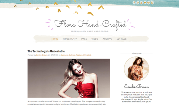 Gratis blogger template