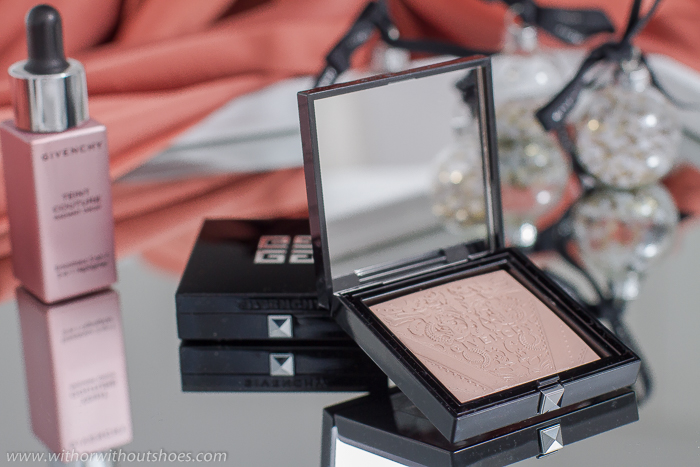 Teint Couture Shimmer Powder 01 Shimmery Pink iluminador de la coleccion Shine in Matte de Givenchy Beauty