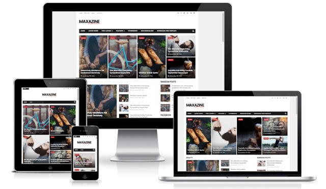maxazine шаблон для blogger 2016