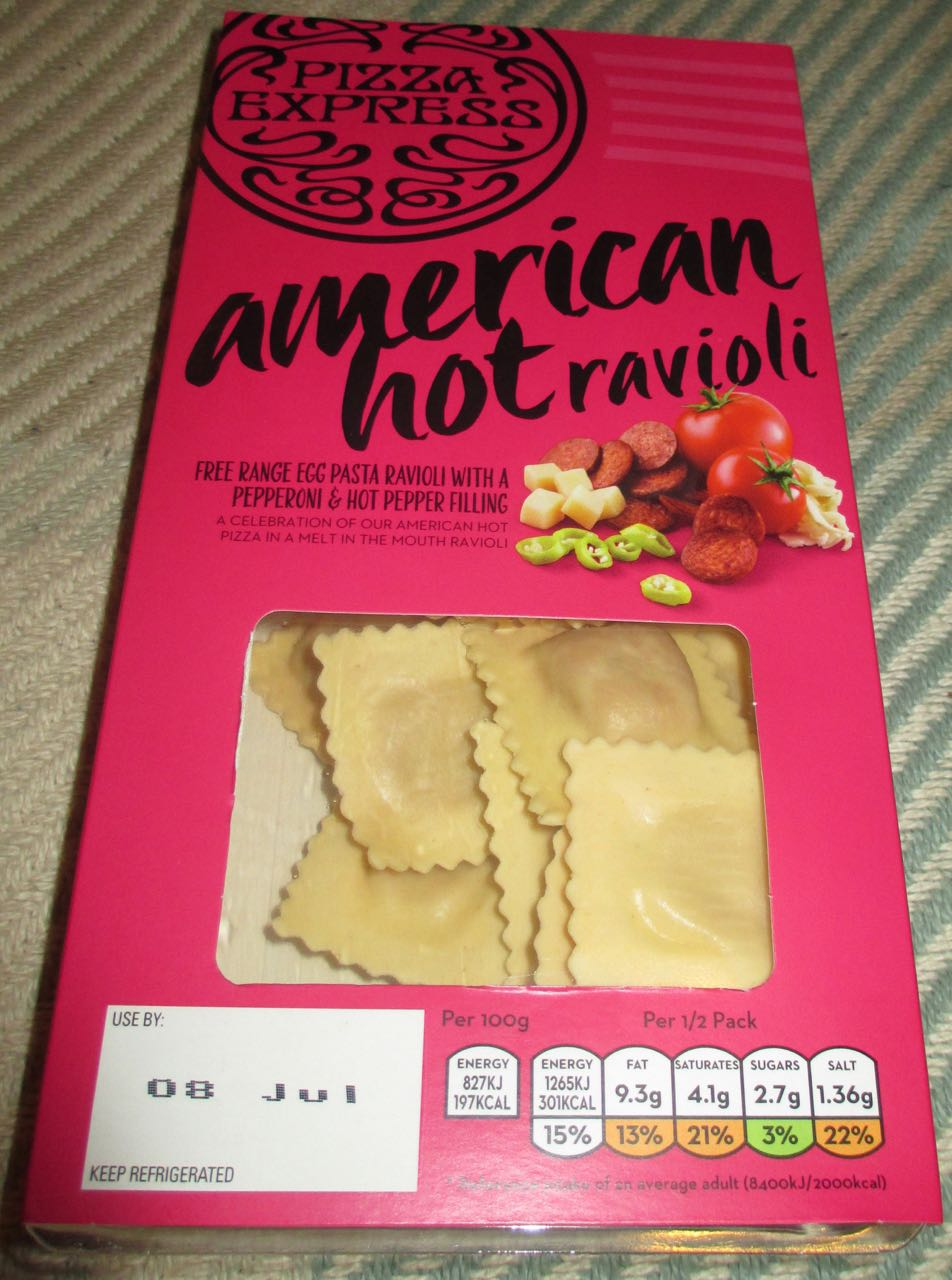 Foodstuff Finds American Hot Pasta Ravioli Pizza Express