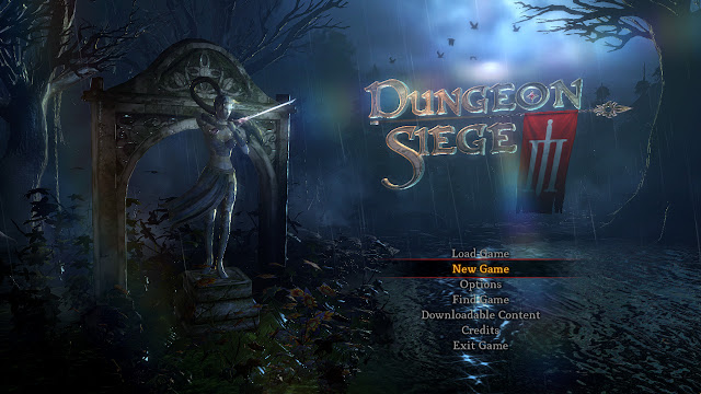 Dungeon Siege III title menu screenshot