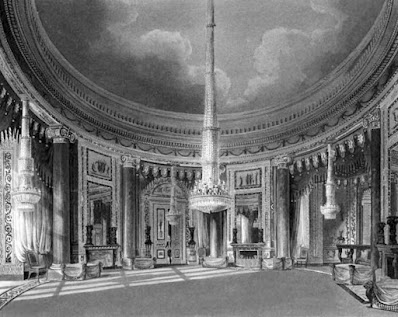 Circular Room, Carlton House, from The History of the Royal Residences by WH Pyne (1819)