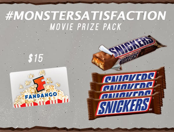 Snickers contest, win Snickers bar and Fandango gift card