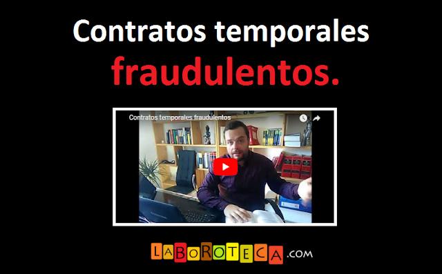 Contrato temporal fraudulento