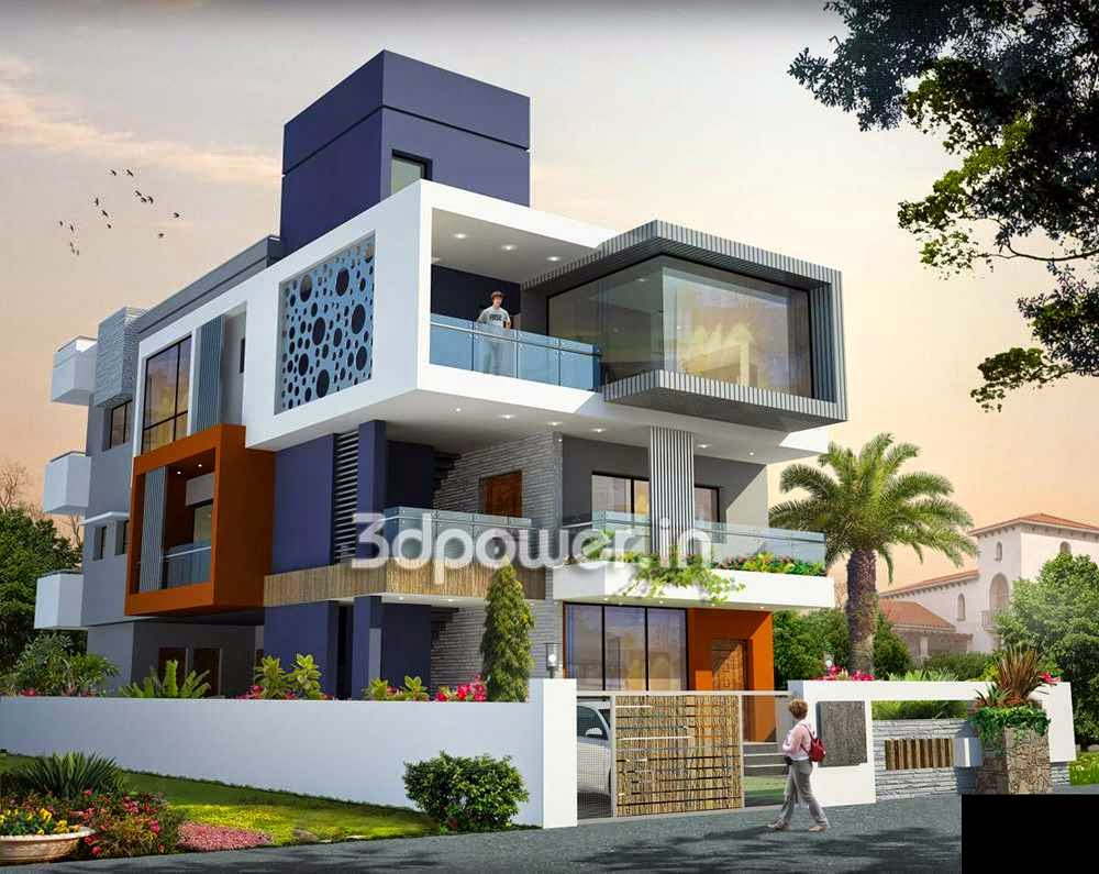 Ultra modern home designs home designs home exterior for Small indian house plans modern