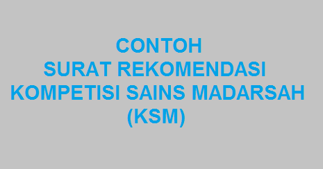 Contoh Surat Rekomendasi Ksm Mtss Baitul Muttaqin Tumbrasanom