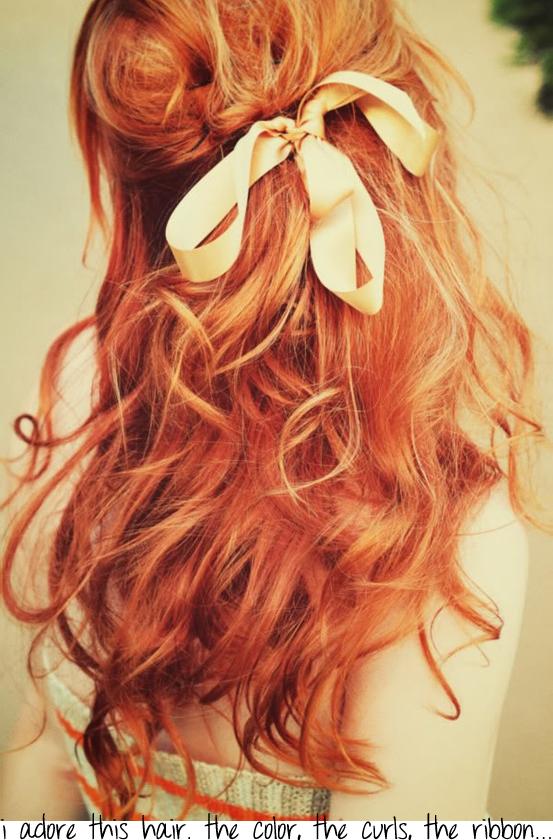 ribbon in hair