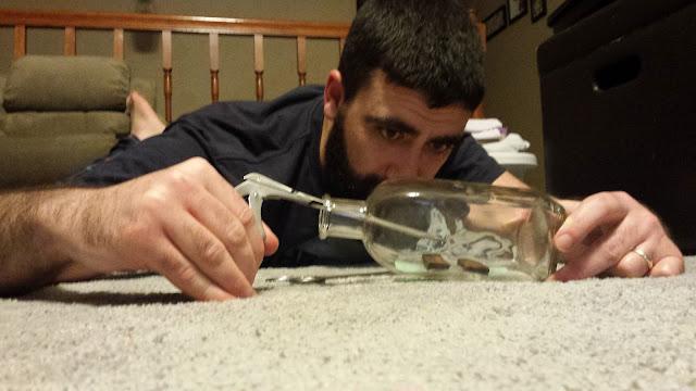 putting mounts in a bottle