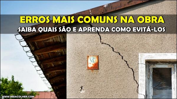 erro comum nas obras de construção