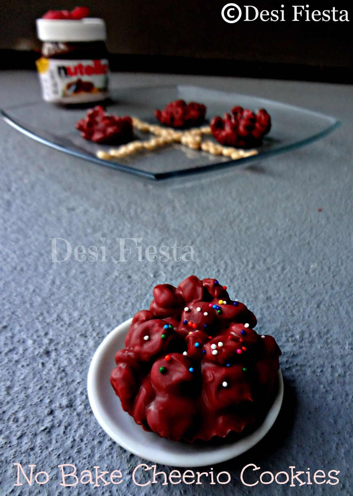 No Bake Cheerio Cookies Desi Fiesta On The Go Pink Now You Are Ready Into Your Tummy