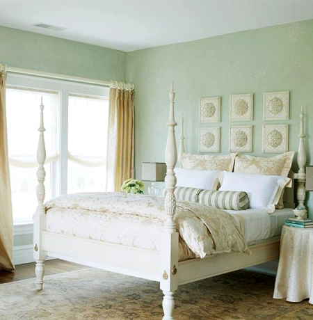 seafoam green walls bedroom