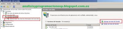 Instalación de Internet Information Services  IIS