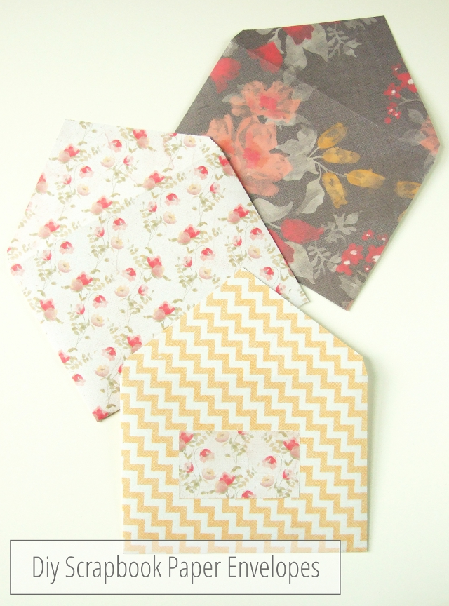 Sweet and Simple Diy Scrapbook Paper Envelopes.