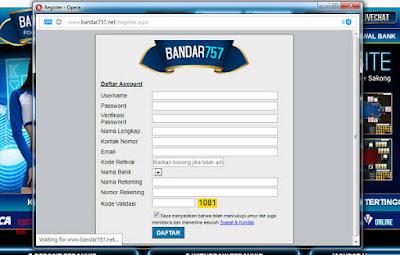 Formulir Pendaftaran BANDAR757 Agen Sakong Judi BandarQ Domino99 Bandar Poker Online Terpercaya