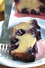 'Purple Rain' Blueberry Loaf Cake w/ Lemon Syrup (GF)