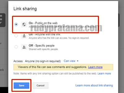Cara Share File Melalui Google Drive