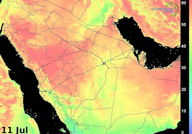 درجة الحرارة في السعودية