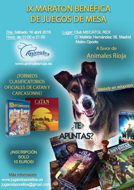 """IX Maratón de Juegos de Mesa """"Jugando por Ellos"""""""