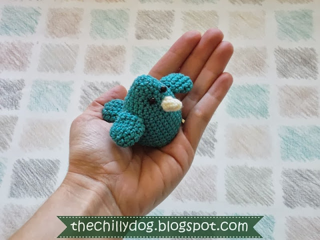 Free Crochet Pattern PDF: Amigurumi Blue Bird of Happiness