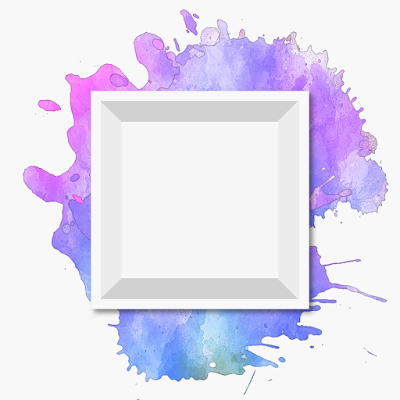 PNG Watercolor Shadow Box