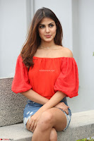 Rhea Chakraborty in Red Crop Top and Denim Shorts Spicy Pics ~  Exclusive 322.JPG