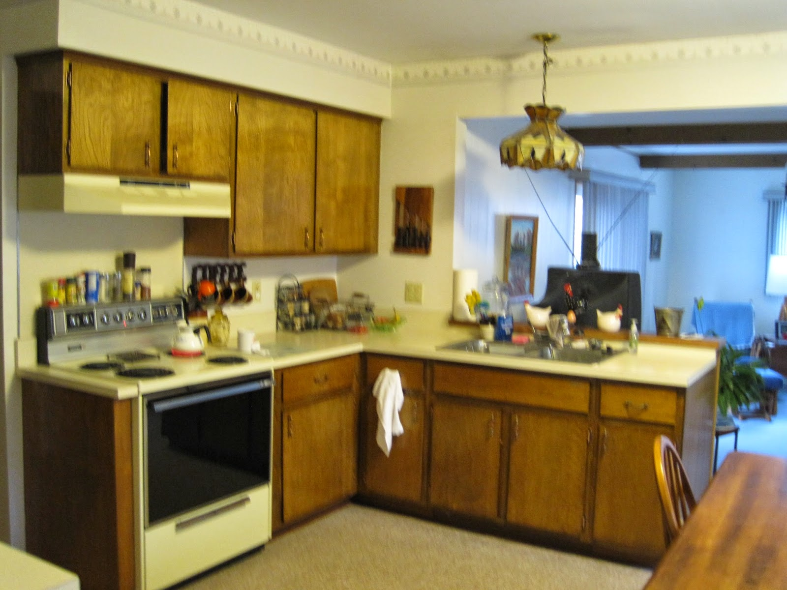 The Literate Quilter: Big Changes In Small Kitchens