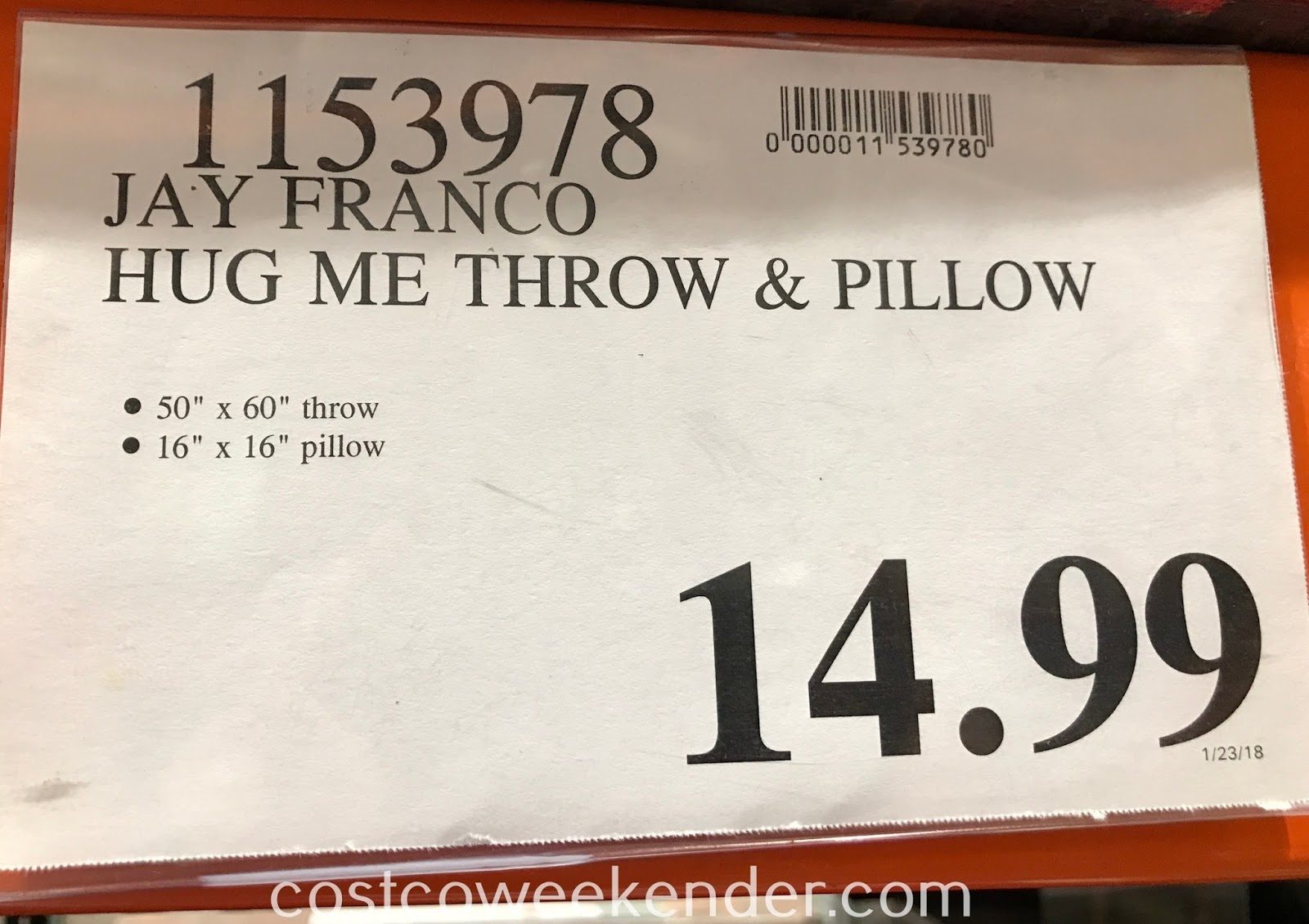 Deal for the Jay Franco and Sons Hug Me Pillow and Throw Set at Costco