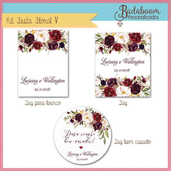 Floral, casamento, arte, digital, kit, bodas, tag, rotulo, tag brinco, bem casado