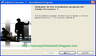 Cài đặt Presenter 7 - 01