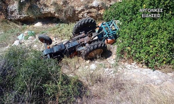 Θανάσιμος τραυματισμός από ανατροπή τρακτέρ στη Λακωνία
