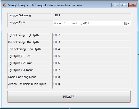 Cara Menghitung Selisih Tanggal Pada VB .NET