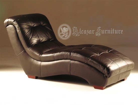 Sectional Leather Large Chaise