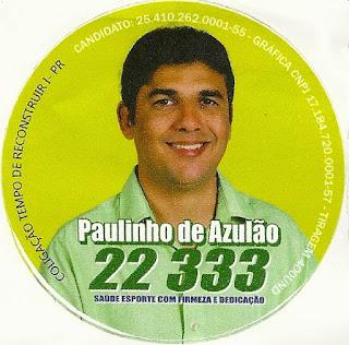 Eleições 2016 - Paulinho de Azulão