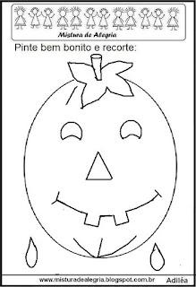 Halloween-colorir e recortar a letra O