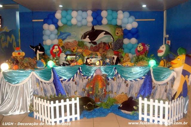 Decoração infantil Fundo do Mar - Tradicional Luxo