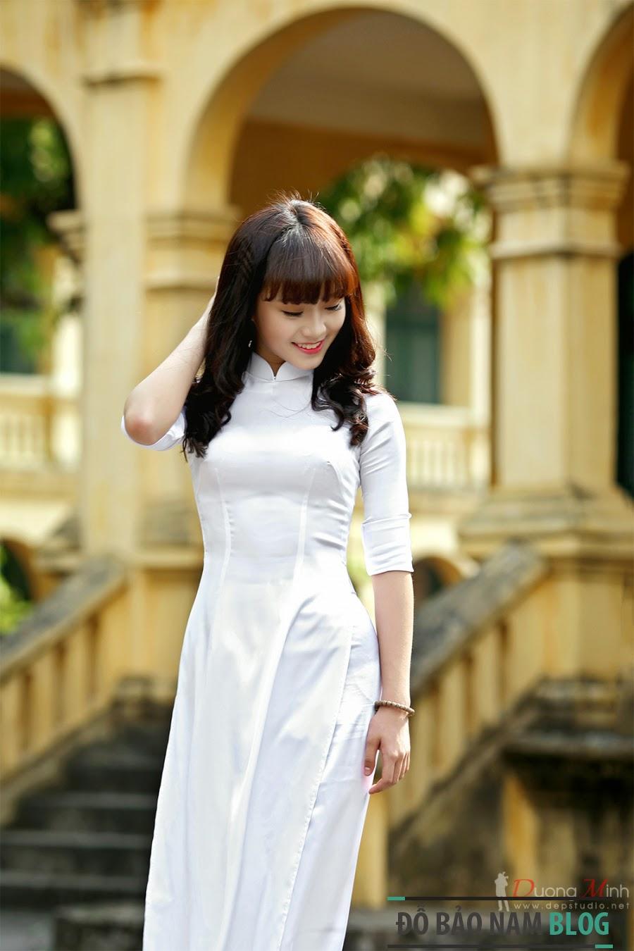Hình ảnh girl xinh áo dài truyền thống