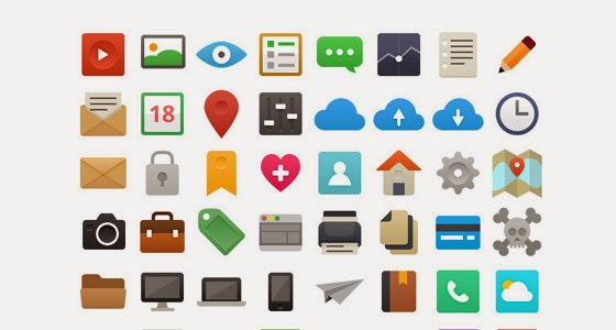 48 Free Flat Vector Icons