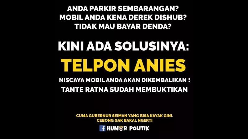 Mobil kena derek hubungi Anies