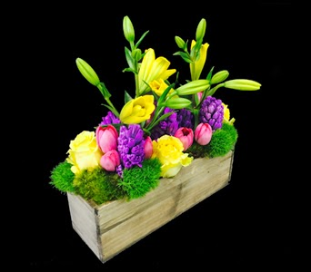 Spring Garden Custom Floral Arrangement Boston