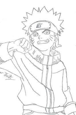 Komik Naruto bisa mewarnai gigit jari