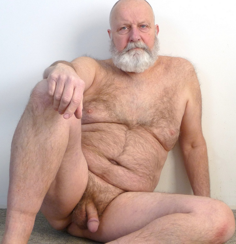 silver daddy cum