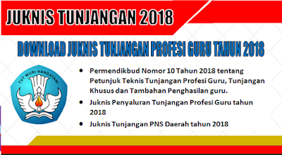 Juknis Tunjangan Profesi Guru (Sertifikasi) tahun 2018