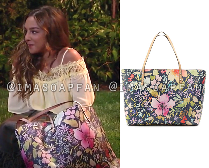 Kristina Davis, Lexi Ainsworth, Multicolored Floral Tote Bag, General Hospital, GH