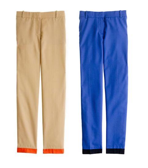 jcrew color blocked capri pants