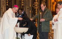 Baptême Marie-Thérèse cathédrale de Sens Veillée Pascale 2016